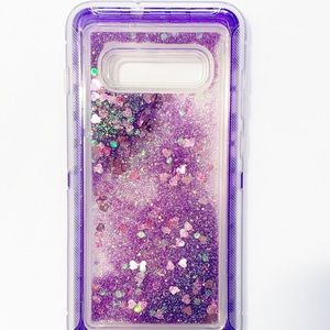 Purple Glitter S10 Plus case